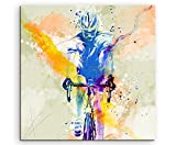 Cyclisme VI 60 x 60 cm Décoration murale Sport image Aquarelle Art Couleurs de Paul Sinus