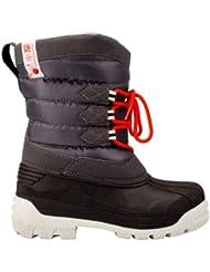 Winter-Grip–Botas de nieve canadienses del Schreuders deporte niños, color Anthracite/Light Grey/Red, tamaño talla 30