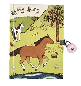 Mudpuppy - Diario con llave, diseño caballos (MPDI18915)
