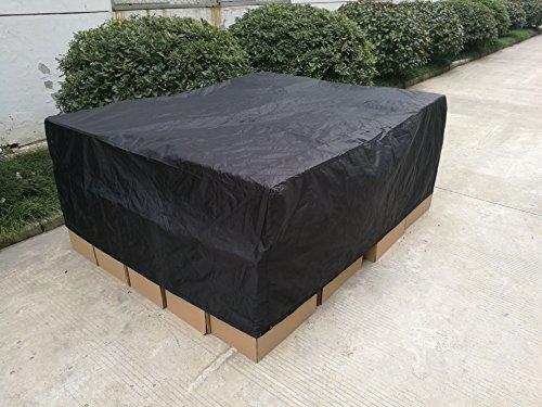 Femor Abdeckung Gartenmöbel, Schutzhülle Gartenmöbel und Abdeckplane für rechteckige Sitzgarnituren, Gartentische und Möbelsets (200*160*70cm)