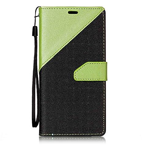 Nancen New Housse coque LG G6 (5,7 pouces) Bien Haute Qualité PU Cuir Flip Étui Coque de Protection Wallet / Portefeuille Case Cover Housse - Avec Carte de Crédit Fente, Fermeture Magnétique, pour protéger votre téléphone,