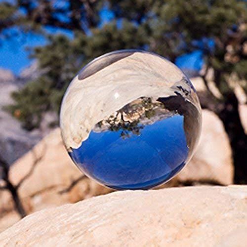 Yongmao Kristallkugel mit Ständer, magische Kristall-Heilkugel für Fotografie, Dekoration für Zuhause, Party und Show, Transparentweiß, 60 mm
