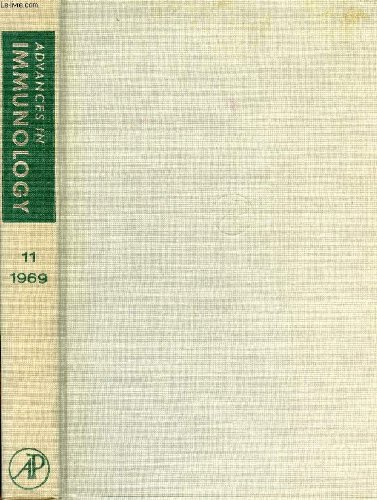 ADVANCES IN IMMUNOLOGY, VOLUME 11, 1969 (Contents: Electron Microscopy of the Immunoglobulins, N.M. Green. Genetic Control of Specific Immune Responses, H.O. McDevitt, B. Benacerraf. The Lesions in Cell Membranes Caused by Complement, J.H. Humphrey...) par KUNKEL HENRY G. & ALII DIXON F. J. Jr.