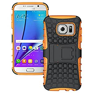 Samsung Galaxy S7 Edge - Stylish Heavy Duty Hard Back Armor Shock Proof Case Cover with Back Stand Feature & Free Screen Protector by Accessories Collection