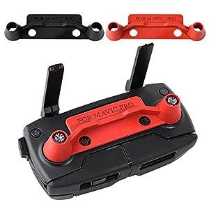 KUUQA 2 Pcs Upgrade Version Transmitter Controller Stick Thumb Protective Clip Rocker for Dji Mavic Pro,Red and Black (DJI mavic not included) from KUUQA