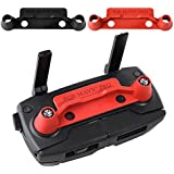 KUUQA 2 Pcs Actualización Versión Transmisor Controller Stick Thumb Clip Protector Rocker para Dji Mavic Pro, Rojo y Negro (DJI mavic no incluido)