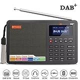 Ohok tragbares DAB/DAB+ Digital Radio mit FM Transmitter, 1,8 Zoll LCD-Display, Lautsprecher, Bluetooth und Wecker (DAB-Home-D1)