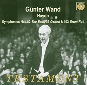 symphonies n°82 en do majeur, n°92 en sol majeur & n°103 en si bémol
