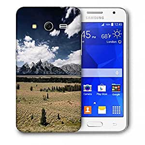 Snoogg Clouds Flowing In A Row Printed Protective Phone Back Case Cover For Samsung Galaxy Core 2 / Core II G355H