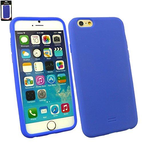 "Emartbuy® Apple Iphone 6 6G 6S 4.7 "" Zoll Silicon Hülle Schutzhülle Case Cover Hot Rosa Dark Blau Silikon"