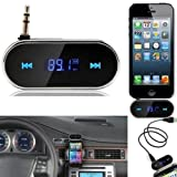 REALMAX® Car wireless MP3 Music FM radio transmitter universally HANDS FREE for compatible with all Brand mobiles iPhone iPod Samsung HTC Sony Nokia LG Blackberry