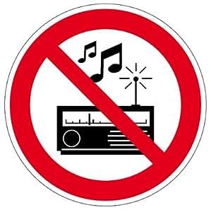 verbotsschild laute musik und l rm verboten aus. Black Bedroom Furniture Sets. Home Design Ideas