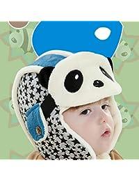 Per bambini senza orlo autunno e inverno versione coreana lei Feng cappello  più velluto caldo Addensato panda a forma di… 9c672c72d99d