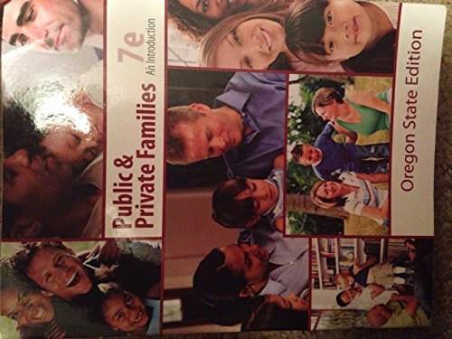 Public & Private families 7th edition (oregon state edition) by Andrew J. Cherlin (2010-05-03)