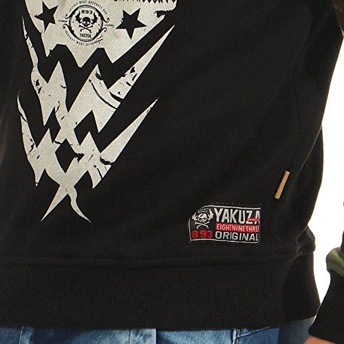 Yakuza -  Felpa con cappuccio  - Basic - Con cappuccio  - Maniche lunghe  - Uomo Nero
