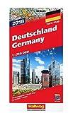 Straßenkarte Deutschland 1:750 000 Ausgabe 2018: mit Distoguide, Transitplänen u. Index (Hallwag Strassenkarten)