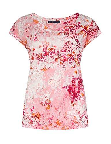 ex-marks-spencer-damen-t-shirt-rosa-pink-peach-orange-cream-gr-10-rosa-pink-peach-orange-cream