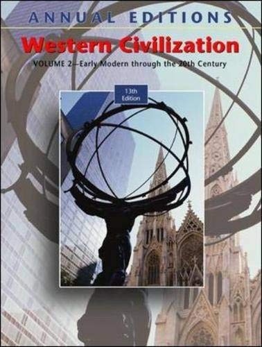 Annual Editions: Western Civilization, Volume 2