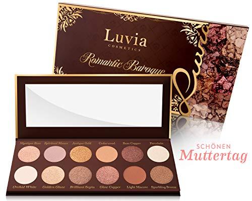 Luvia Lidschatten Palette Matt, Schimmer & Glitzer - Romantic Baroque Make-Up - Inkl. 12 romantischen Farben der Epochen - Limitierte Geschenkbox – Vegane Liedschattenpalette