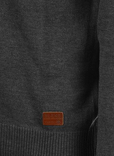 BLEND 703656ME Cardigan, Größe:M;Farbe:Charcoal (70818) - 5