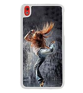 Dancing Girl 2D Hard Polycarbonate Designer Back Case Cover for HTC Desire 816 :: HTC Desire 816 Dual Sim :: HTC Desire 816G Dual Sim