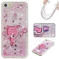 Voguecase® Per Apple iPhone 5C, Sabbie mobili Custodia Silicone Morbido Flessibile TPU Custodia Case Cover Protettivo Skin Caso (rosa Orso) Con Stilo Penna