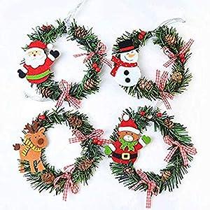 4 Piezas Corona de Navidad,