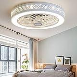 TDLL Moderno Plafoniera LED Ventilatore a Soffitto con Luce e Telecomando Silenzioso Ventilatori Dimmerabile Plafoniere Lampadario Camera da Letto Soggiorno Illuminazione Invisibile Fan