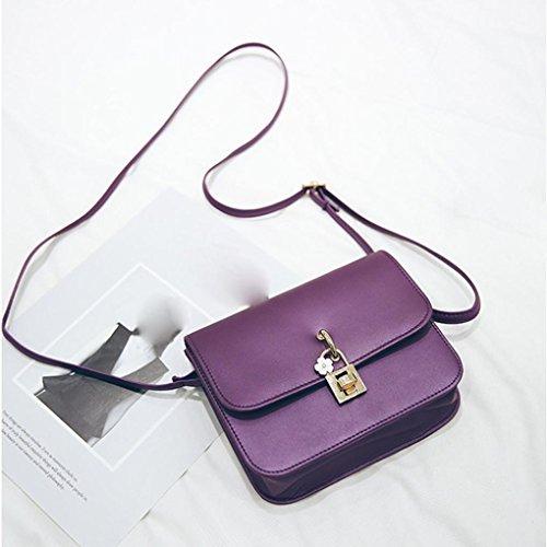 BZLine® Frauen Vintage Casual Handtaschen Women Clutch Party Tasche Umhängetasche, 19cm *15.5cm *6cm (Lila) Lila