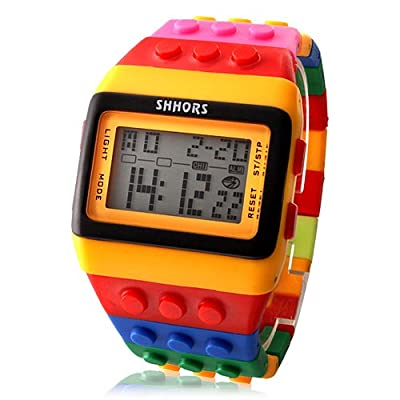 LightInTheBox Reloj Pulsera LED Con Correa de LEGOS de Colores y Luz Nocturna