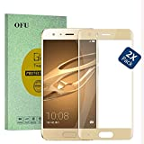 "OFU® Huawei Mate 10 Lite(5.9"") Vollbild Panzerglas, Gehartetem Glas Folie Schutzfolie,Displayschutzfolie für Huawei Mate 10 Lite(5.9"") Screen Protector aus Glass(Golden)-2 Piece"