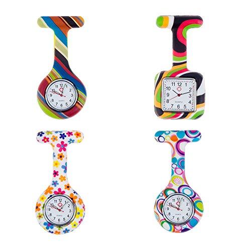 Set von 4schlüsselanhänger Schlüsselschilder Hohe Qualität Broschen/Schild Schlüsselkasten Uhren in Infektionen Kontrolle Silikon hygienischer Schutz/Halterungen mit farbenfrohem Muster/Designs von VAGA