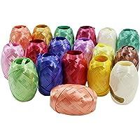 COM-FOUR 18 nastri da regalo, arricciabili, in diversi colori, 20 m per ogni bobina