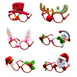 Creative Glasses, Hotsellhome 6Pcs Christmas Party Props Dress Up Beautiful Glasses Take Photo Props Party Accessory Ornaments Gift