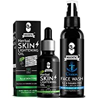Muuchstac Skin Lightening Kit for Men - Herbal Skin Lightening Oil & Ocean Face Wash   Enriched with Haldi, Alo vera…