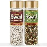 Panjon Swad Mouth Freshener Combo, White Sweet Saunf 110g  and Shahi Navratan Mix, 100g