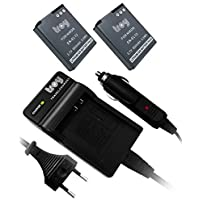 2xBatteries + Chargeur pour EN-EL12 Adapté pour Nikon COOLPIX P330, S31, S1200pj, S6100, S6150, S6200, S8200, S9100, S800c, S9300, S9400, S9500, Coolpix S9500, COOLPIX S6300, Coolpix AW110