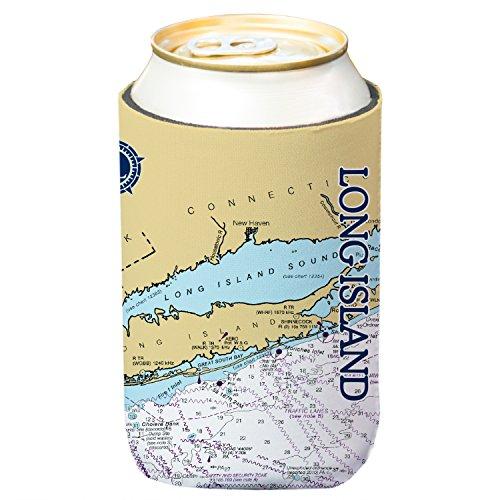 Verändert breiten Long Island Diagramm Standard Getränke Kühler (4er Pack)