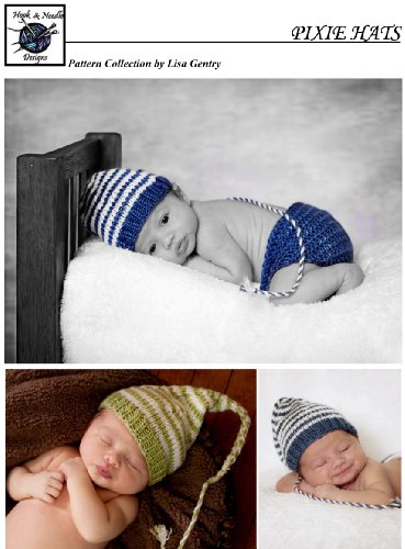 PIXIE HATS - 2 Knitting Pattern #105 - Gnome Elf Baby Hat Prop (Lisa's Baby Collection Book 50) (English Edition)