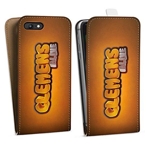 Apple iPhone X Silikon Hülle Case Schutzhülle Clemens Alive Fanartikel Merchandise Youtuber Downflip Tasche weiß