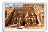 AWS - Imán de PVC rígido con imagen de Abu Simbel (Egipto)
