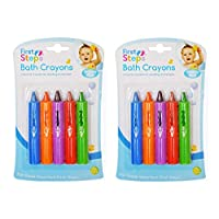 2 X Baby Bath Crayons Pack of 10 for Fun in Bath - Non Toxic Bath Toys