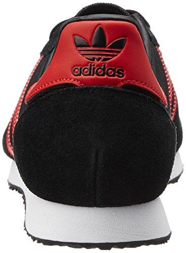 adidas Herren Zx Racer Turnschuhe Schwarz (Core Black/Red/Ftwr White)