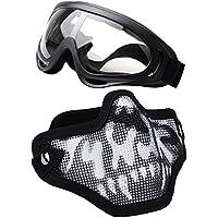 Coofit Media Máscara del Respirador al Aire Libre de la Máscara 2 Conjunto Potencia Acero y