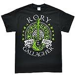 Rory Gallagher Schwarz T-Shirt, Größe XL