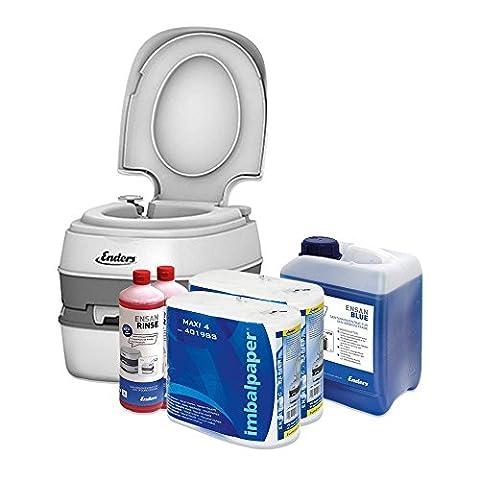 WC chimique portable pour camping, kit de démarrage Enders Blue