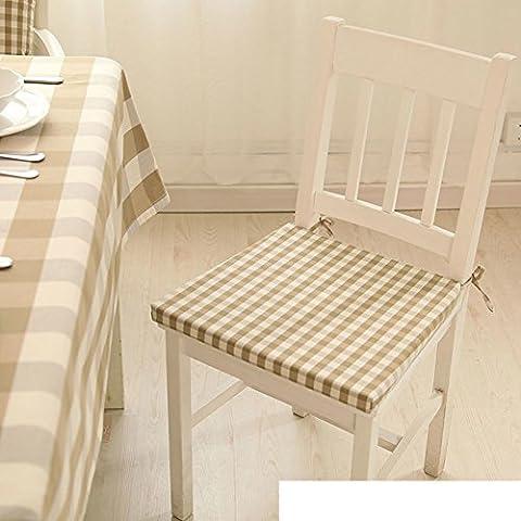 cojín de silla comedor tela cuadros/Cojines de té lavable con cremallera de tela escocesa con espuma de leche-B 40x40cm(16x16inch)