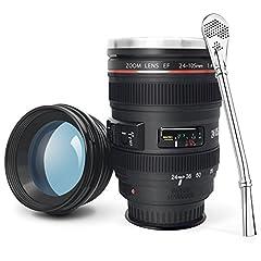 Idea Regalo - Camera Lens tazza Obiettivo di caffè con il pollone, Interni in acciaio inox Tumbler Cup - il regalo freddo Caon EF 24-105mm f / 4L IS USM