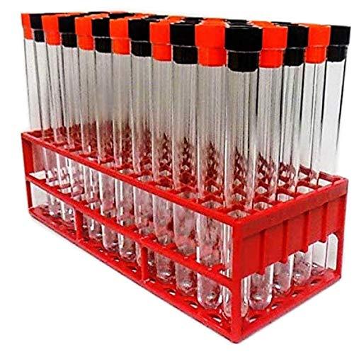 Test Tubes, Halloween Thema Schwarz, Orange Pfropfen mit Aufkleber
