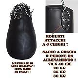 sacco boxe a pera o goccia alta qualità 100% vari pesi (PIENO x 25 Kg)